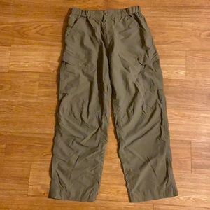 REI Mens Nylon Green Cargo Pants Size 30L UPF +50